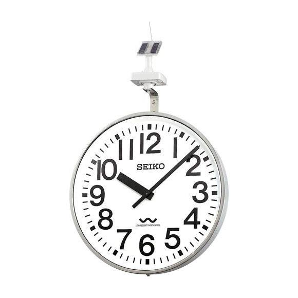 【ポイントアップ中&割引クーポン配布中】 【 送料無料 】 SEIKO セイコー 壁掛型 電波時計・ソーラー式 屋外用 (QLC-707) (検) 時計 掛け時計 掛時計 かけ時計 木製