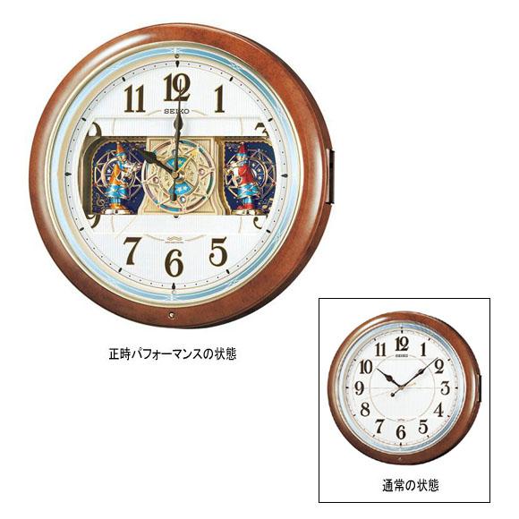 【エントリーで★最大ポイント10倍!】 【 送料無料 】 SEIKO セイコー 掛け時計 からくり時計 電波 時計 (RE559H) 【smtb-tk】 (検)|時計|振り子時計|ふりこ時計|掛け時計|掛時計|振り子|ふりこ|時計|木製|おしゃれ【10P05Nov16】