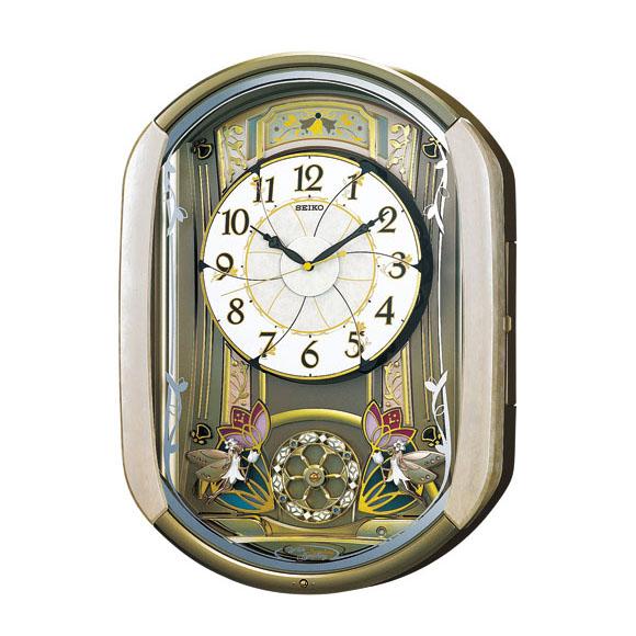 SEIKO セイコー 掛け時計 からくり時計 電波 時計 (RE567G) (検) 時計 振り子時計 ふりこ時計 掛け時計 掛時計 振り子 ふりこ 時計 木製 おしゃれ