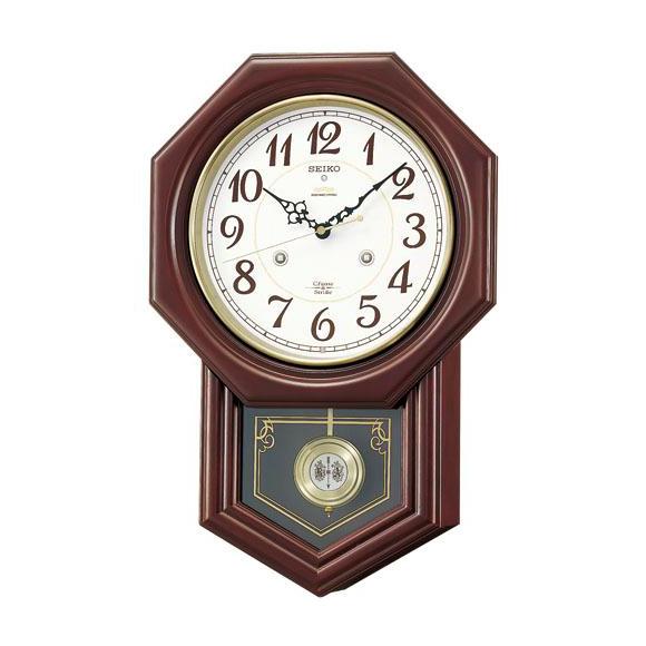 SEIKO セイコー 振り子時計 報時 電波 時計 (RQ205B) (検) 時計 掛け時計 掛時計 かけ時計 木製
