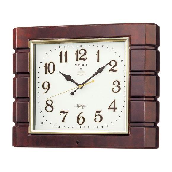 SEIKO セイコー 掛け時計 報時 電波 時計 (RX209B) (検) 時計 掛け時計 掛時計 かけ時計 木製