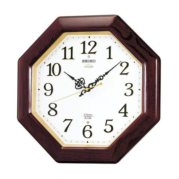 SEIKO セイコー 掛け時計 報時 電波 時計 (RX210B) (検) 時計 掛け時計 掛時計 かけ時計 木製