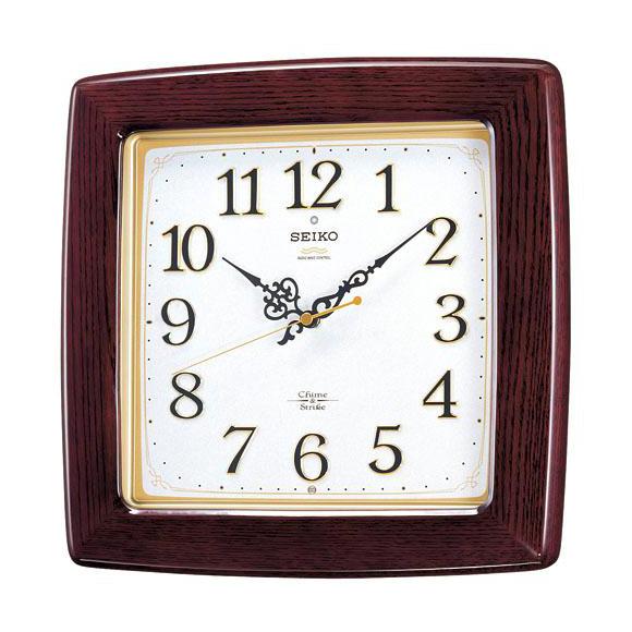 SEIKO セイコー 掛け時計 報時 電波 時計 (RX211B) (検) 時計 掛け時計 掛時計 かけ時計 木製