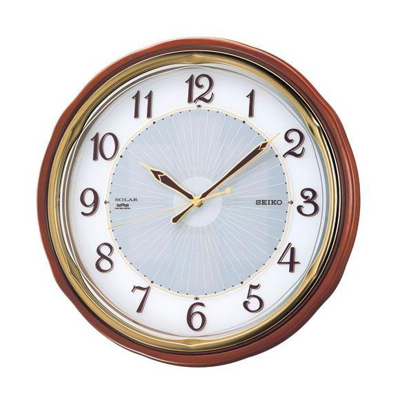 SEIKO セイコー 掛け時計 ソーラープラス 電波 時計 (SF221B) (検) 時計 掛け時計 掛時計 かけ時計 木製