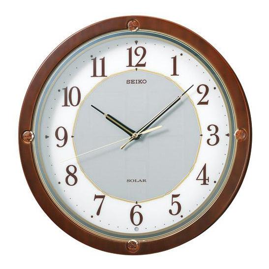 SEIKO セイコー 掛け時計 ソーラープラス 電波 時計 (SF232B) (検) 時計 掛け時計 掛時計 かけ時計 木製