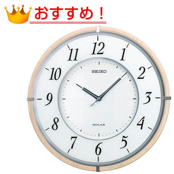 SEIKO セイコー 掛け時計 薄型 電波 時計 (SF501B) (検) 時計 掛け時計 掛時計 かけ時計 木製