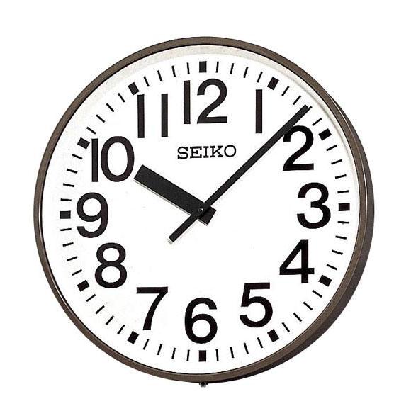 SEIKO セイコー 壁掛型 電波時計・交流電流式 屋外用 (SFC-713E) (検) 時計 掛け時計 掛時計 かけ時計 木製
