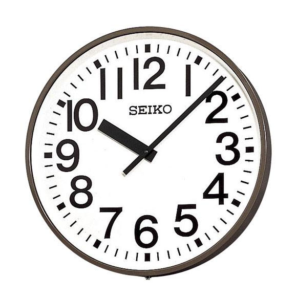 SEIKO セイコー 壁掛型 電波時計・交流電流式 屋外用 (SFC-713ER) (検) 時計 掛け時計 掛時計 かけ時計 木製
