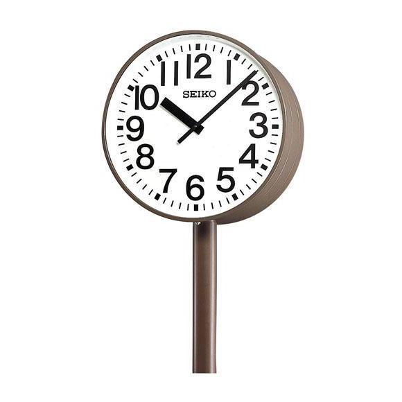 【ポイントアップ中&割引クーポン配布中】 【 送料無料 】 SEIKO セイコー 両面ポール型 交流電流式 屋外用 (SFC-783ER) (検) 時計 掛け時計 掛時計 かけ時計 木製