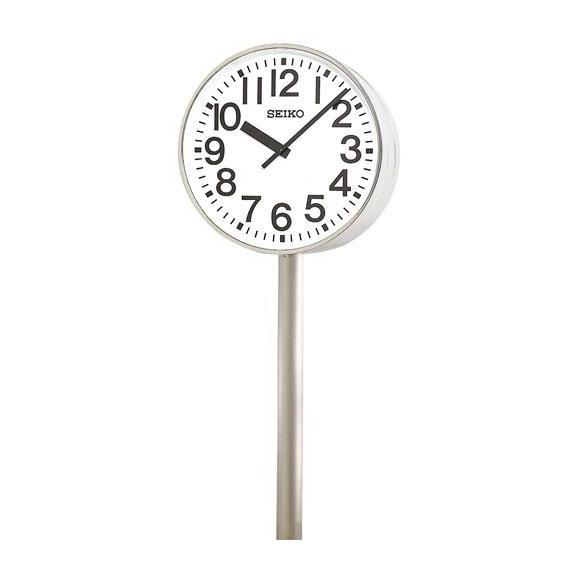 【ポイントアップ中&割引クーポン配布中】 【 送料無料 】 SEIKO セイコー 両面ポール型 交流電流式 屋外用 (SFC-787R) (検) 時計 掛け時計 掛時計 かけ時計 木製