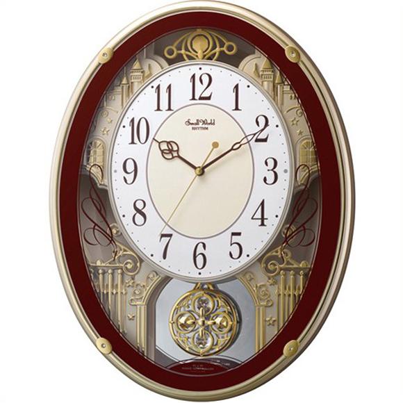 【 送料無料 】【特価2割引】 シチズン 掛け時計 アナログ スモールワールドプラウド (RY-4MN523RH06)