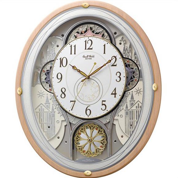 【 送料無料 】【特価2割引】 シチズン 掛け時計 アナログ スモールワールドエアル (RY-4MN525RH13)