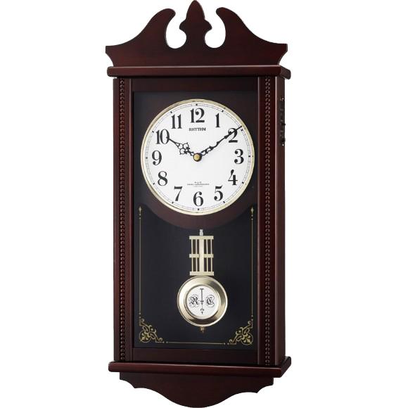 【 送料無料 】【特価2割引】 シチズン 振り子時計 アナログ ペデルセンR (RY-4MNA03RH06)