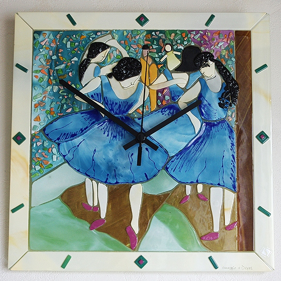 Sebino Arte Venetian glass clock Degas ballerina (YM-AR17-34R)
