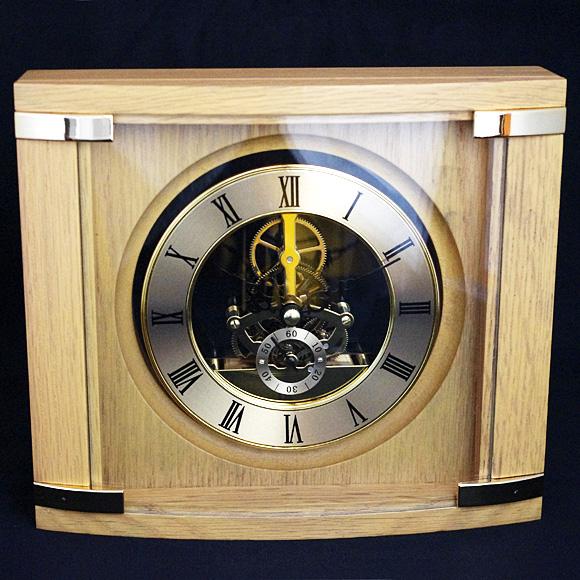 置き時計 置時計 木製 高級 シック 人気 リビング デスク 寝室 居間 新築祝い 開店祝い 周年 記念品 贈り物 引き出物 直輸入 特価 クリスタルガラス時計「アートシリーズHS2010NT」【10P01Oct16】
