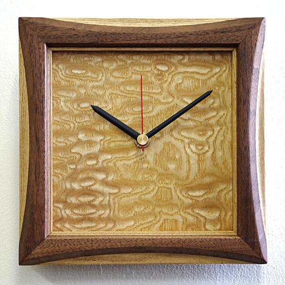掛け 掛時計 時計 木製 天然 木 無垢 ムク 人気 シンプル おしゃれ マンション リビング 和室 送料無料 天然木クラフトクロック「額縁」 日本製 (IM-gakubuchi) 【10P01Oct16】