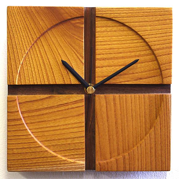 掛け 掛時計 時計 木製 天然 木 無垢 ムク 人気 シンプル おしゃれ マンション リビング 和室 送料無料 天然木クラフトクロック「十字」 日本製 (IM-jugi) 【10P01Oct16】