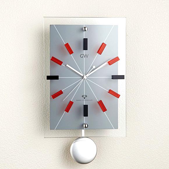 Glass pendulum watch ARIA (red) (logging) | Watch | pendulum clock | clock | pendulum clock * arrival TBA
