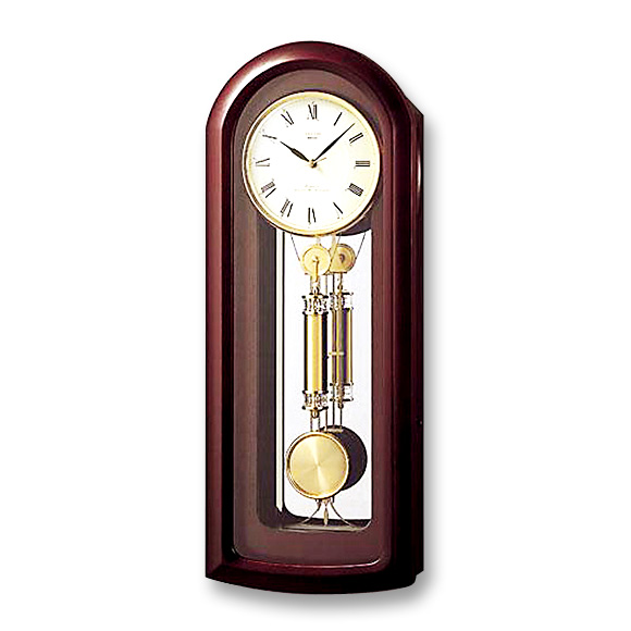 Seiko Decor Pendulum Clock As893b Logging Watch Clocks Kake時計 Wood