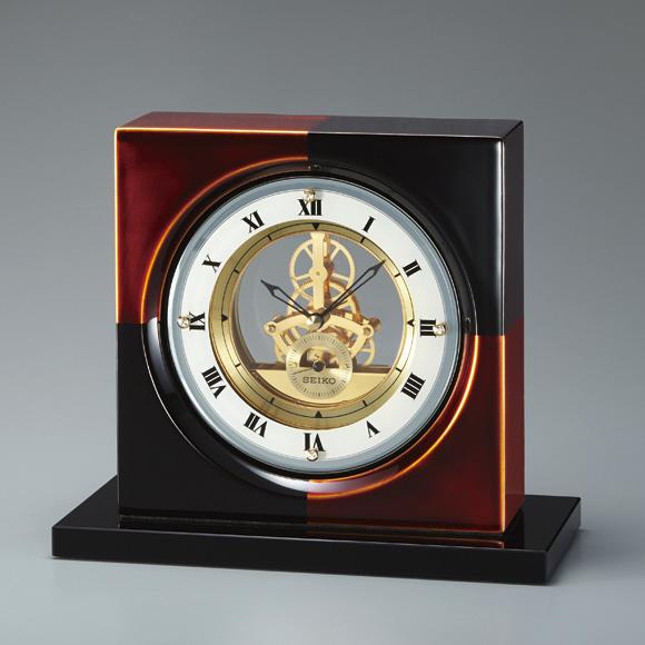 セイコー(SEIKO) DECOR 置き時計 クオーツ 木枠 ステップ BZ810K