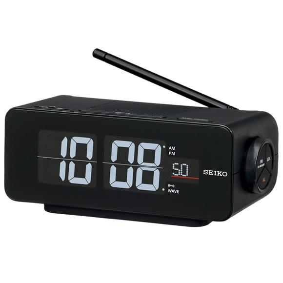 セイコー(SEIKO) 目覚まし時計 電波時計 スヌーズ 音量調節 アラームモニター 交流電源 DL213K