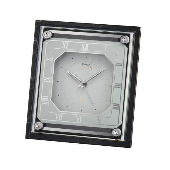 セイコー (SEIKO) EMBLEM 置き時計 クオーツ 一発 ルミ ステップ HR592K
