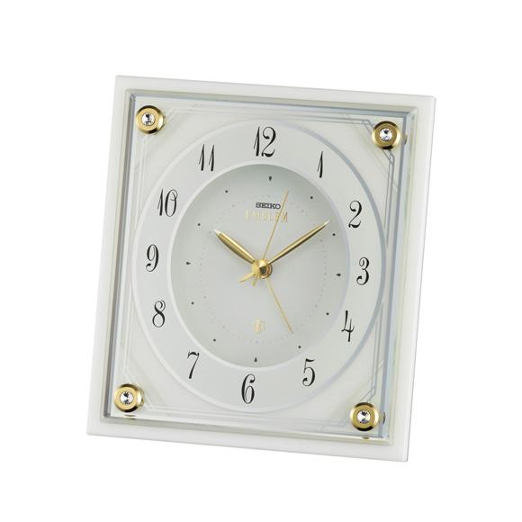 セイコー (SEIKO) EMBLEM 置き時計 クオーツ 一発 ルミ ステップ HR592W