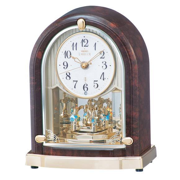 セイコー (SEIKO) EMBLEM からくり時計 電波時計 メロディ 音量調節 自動鳴止め 回転飾り 報時モニター スイープ HW591B