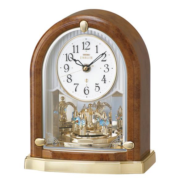 セイコー (SEIKO) EMBLEM からくり時計 電波時計 回転飾り スイープ HW592B