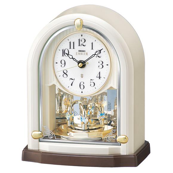 セイコー (SEIKO) EMBLEM からくり時計 電波時計 回転飾り スイープ HW593W