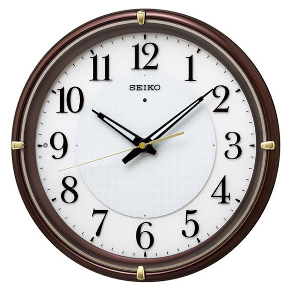 セイコー(SEIKO) 掛け時計 電波時計 おやすみ秒針 スイープ ライト KX233B