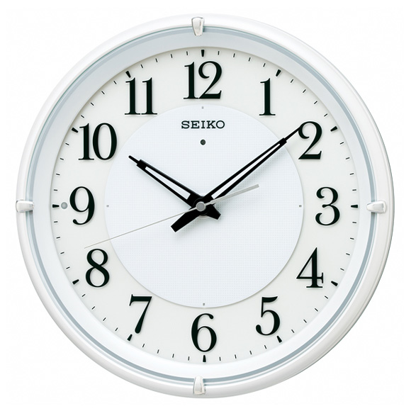 セイコー(SEIKO) 掛け時計 電波時計 おやすみ秒針 スイープ ライト KX233W