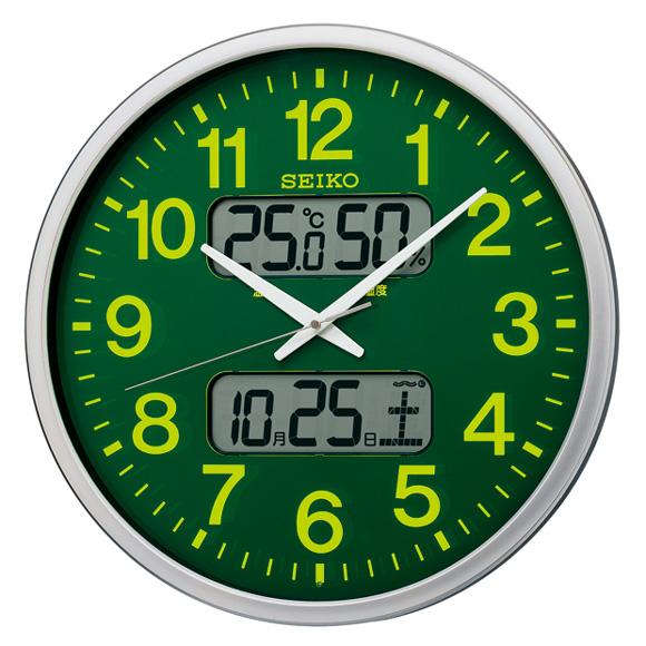 セイコー(SEIKO) 掛け時計 電波時計 スイープ おやすみ秒針 カレンダー機能 温度 湿度 KX237H
