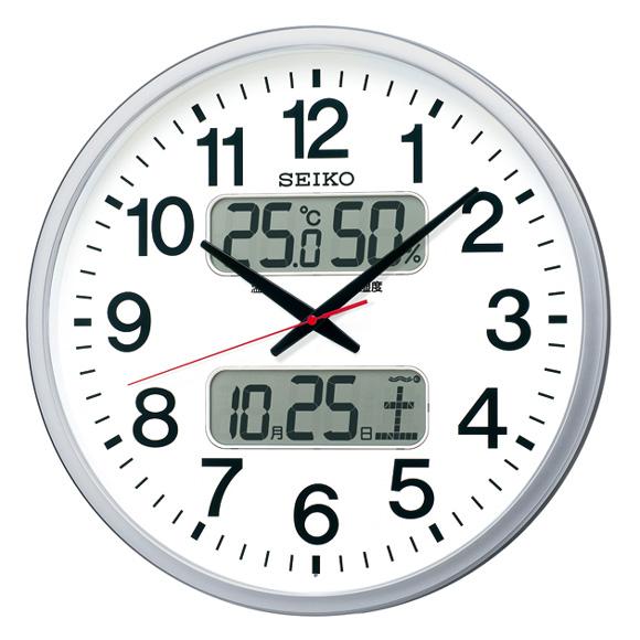 セイコー(SEIKO) 掛け時計 電波時計 スイープ おやすみ秒針 カレンダー機能 温度 湿度 KX237S