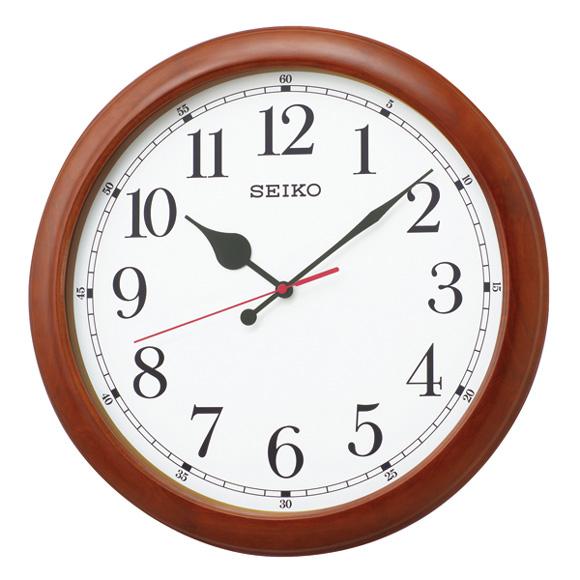 セイコー(SEIKO) 掛け時計 電波時計 木枠 スイープ KX238B