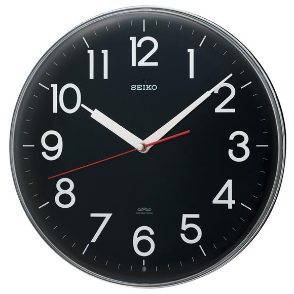 セイコー(SEIKO) 掛け時計 電波時計 スイープ おやすみ秒針 KX301K