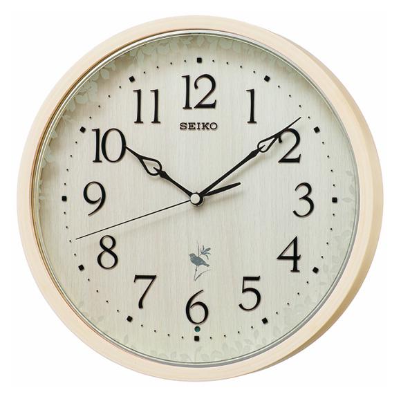 セイコー(SEIKO) 掛け時計 電波時計 木枠 チャイム 合成音 音量調節 自動鳴止め 報時モニター スイープ おやすみ秒針 RX215A