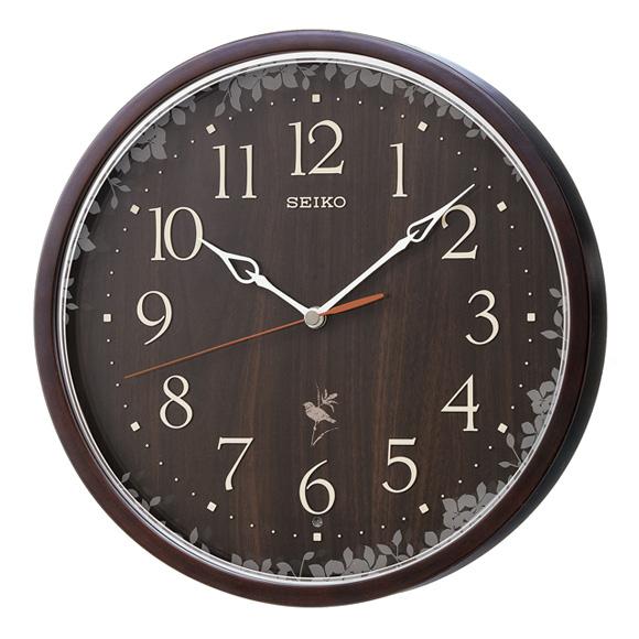セイコー(SEIKO) 掛け時計 電波時計 木枠 チャイム 合成音 音量調節 自動鳴止め 報時モニター スイープ おやすみ秒針 RX215B