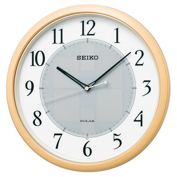 セイコー(SEIKO) 掛け時計 電波時計 ソーラー スイープ おやすみ秒針 SF243B