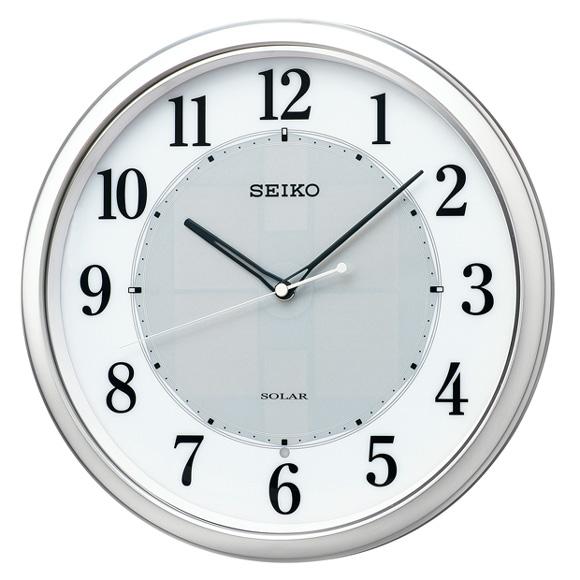 【ポイントアップ中&割引クーポン配布中】セイコー(SEIKO) 掛け時計 電波時計 ソーラー スイープ おやすみ秒針 SF243S