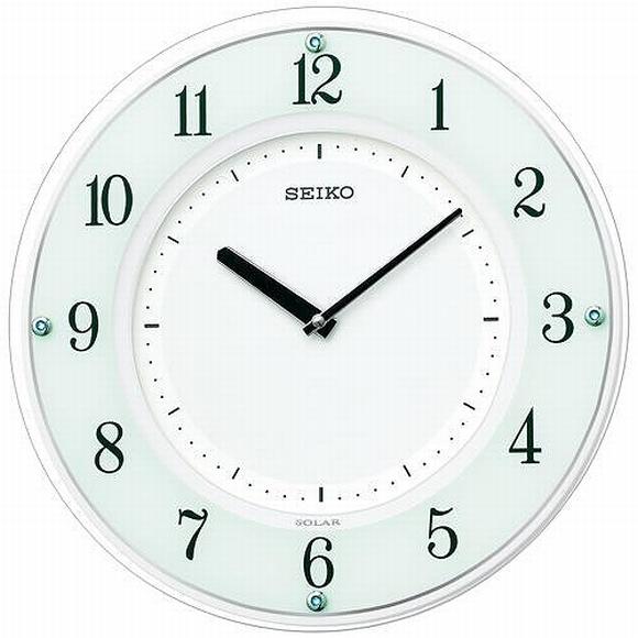 かけ時計 掛け時計 掛時計 薄型 (検) 木製 電波時計(SF505W) アナログ・ソーラー 掛け時計 SEIKO セイコー 時計