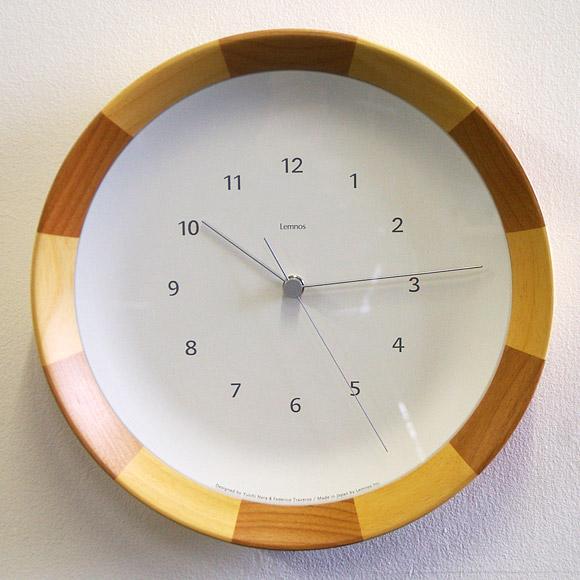 掛け 掛時計 時計 木製 天然 木 ナチュラル タカタレムノス モダン シンプル 見やすい 人気 会社 医院 待合室 日本製 木目ストライプ LC08-28 (TL-LC08-28)【10P01Oct16】