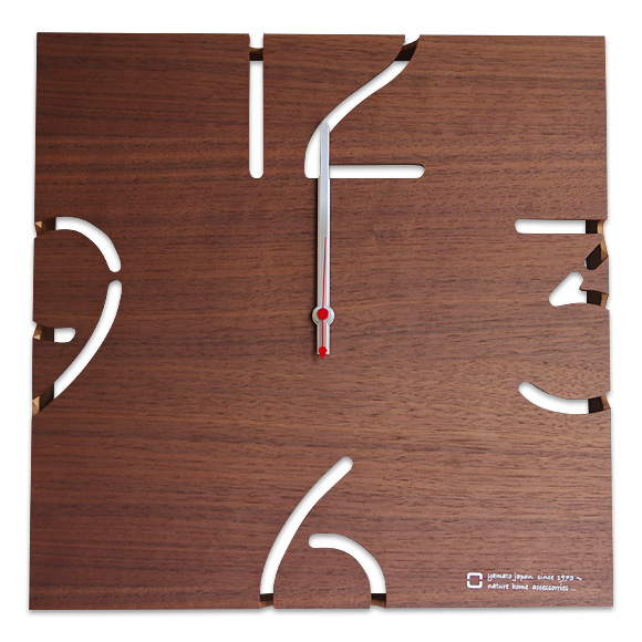 ポイントアップ中 割引クーポン配布中 電波木製時計 パズル YC10-102ウォールナット ストアー 検 掛け時計 時計 かけ時計 最新アイテム 掛時計 木製