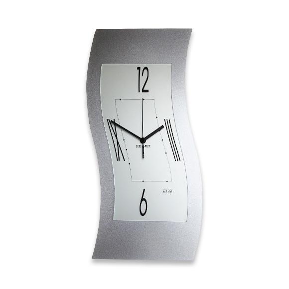 掛け時計 時計掛時計 大型 銀 シルバー イタリア デザイン 長方形 縦長 リビング オフィス 店舗 会社 ロビー 送料無料 開店 開業 ギフト 贈り物 贈答品 プレゼント (CEA-FE070-6) 【10P01Oct16】