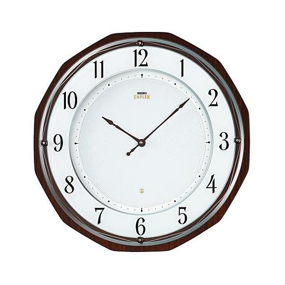 SEIKO(セイコー) 電波時計 EMBLEM ソーラー 【送料無料】 HS536B 掛け時計