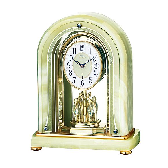 【ポイントアップ中&割引クーポン配布中】【送料無料】 SEIKO(セイコー) EMBLEM 置き時計 オニキス枠 HW575M