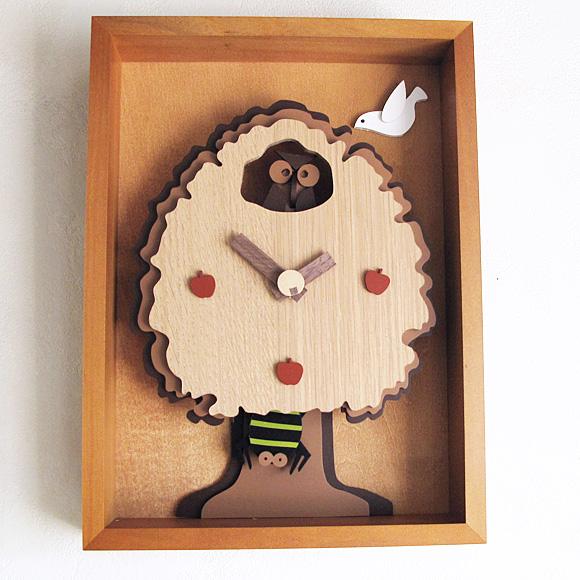 掛け 掛時計 時計 振り子 木製 天然 木 無垢 ムク リビング デザイン おしゃれ 日本製 新築祝い 転居祝い 引越し 店舗 開店祝い 周年 記念品 退職祝い 開院祝い 開業祝い 動物 (YG-AGC-0)*在庫限り【10P01Oct16】