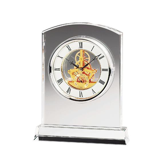 置き時計 置時計 ガラス 振り子 鳴海 クリスタル デスク 高級 応接間 会社 周年 記念品 内祝い 引き出物 贈答品 記念品 ギフト ガラス時計「マルカート」 (NSGW1000-11021) 【10P01Oct16】