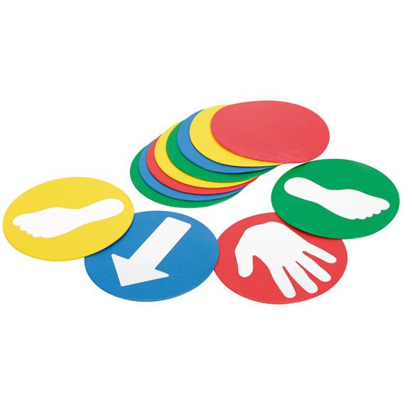 ギムニク バランスボール ウォーキングディスク Educ'o' Disks 12枚入 【3歳以上対象】 (GY80-96) 子供 キッズ リトミック エクササイズ ヨガ ボール ピラティス
