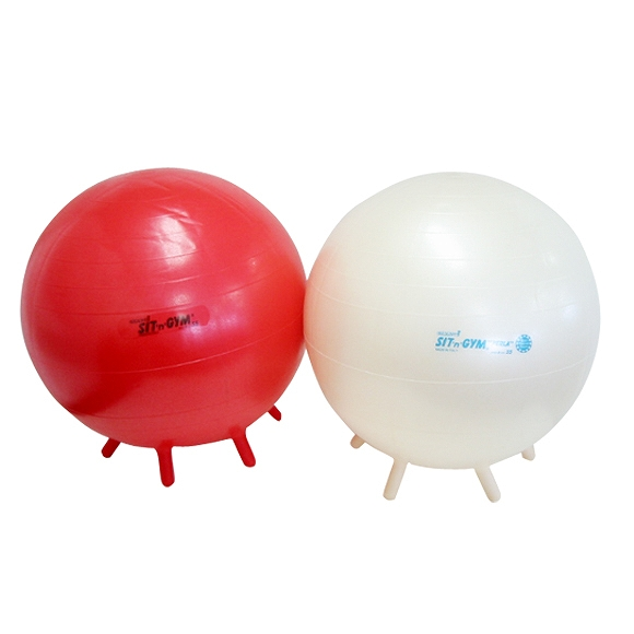 ギムニク バランスボール シッティングジム55 55cm レッド パール (GY89-55) エクササイズ ヨガ ボール ピラティス